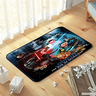 lacencn S-tar-Wars Doormat Floor Super Soft and Cozy Pet mat Anti-Fatigue for Standing Comfort for New Home,Easy Care W15 ...