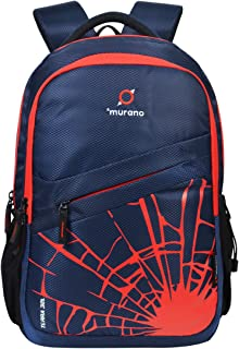 Murano Terra 32 LTR Casual Backpack with 3 Compartment and Polyester Water Resistance Backpack for Men and Women (CT_Blue)