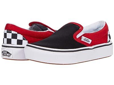 Vans Kids ComfyCush Slip-On (Little Kid) ((Checkerboard) Black/Red) Boys Shoes