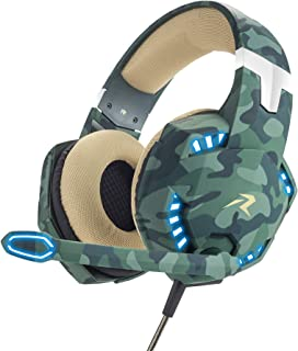 Redlemon Audífonos Gamer con Luz LED y Sonido High Definition 360°, Micrófono con 120° de Movimiento y Cancelación de Ruid...