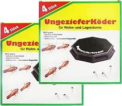 com-four® 8X Ungezieferköder-Dosen, zur zuverlässigen Ungezieferbekämpfung (08 Stück - Ungezieferköder)