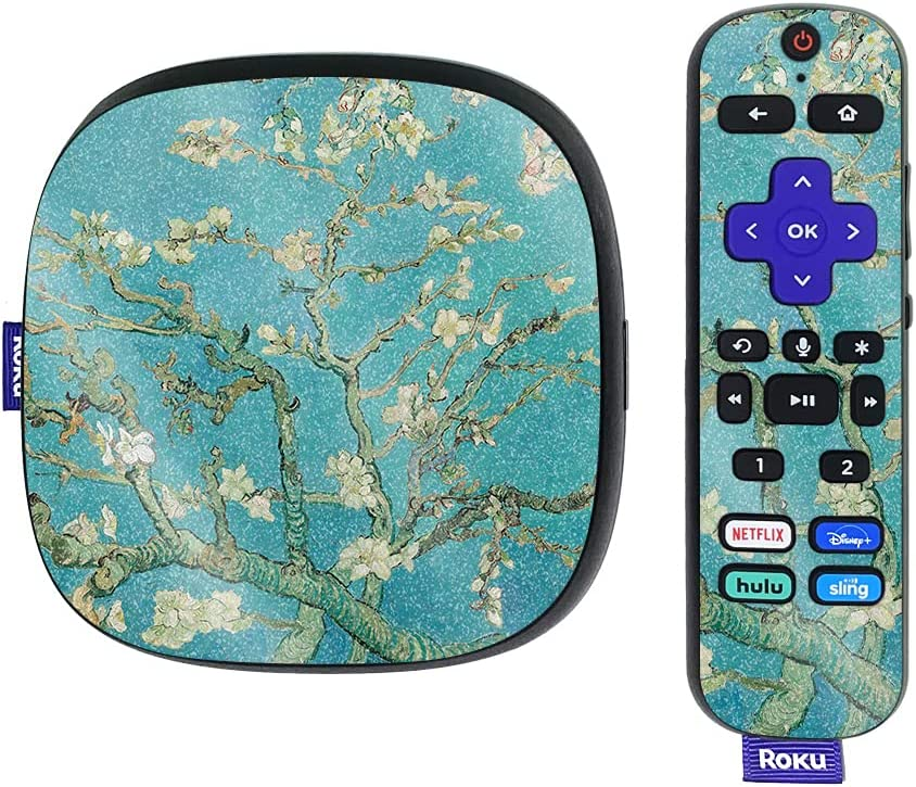 MightySkins Glossy Glitter Skin Compatible with Roku Ultra HDR 4K Streaming Media Player (2020) - Almond Blossom   Protective, Durable High-Gloss Glitter Finish   Easy to Apply   Made in The USA