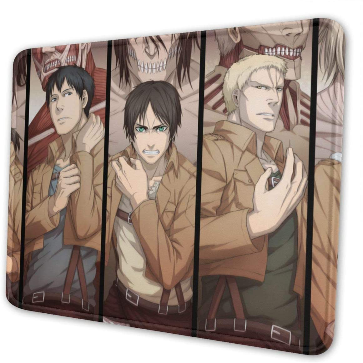 Amazon Com Ihhasd Mouse Pad Shingeki No Kyojin Annie Bertolt Reiner Eren Anime 3d Wallpaper Pattern Mouse Mat Office Products