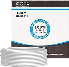 NANOCABLE 10.20.0302 - Cable de Red Ethernet rigido RJ45 Cat.5e UTP AWG24, Gris, Bobina de 100mts
