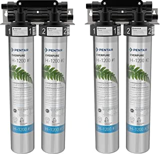 Everpure H-1200 Drinking Water Filter System (EV9282-00). Quick Change Dual Cartridge System. Commercial Grade Water Filtration and Lead Reduction (Pack of 2)