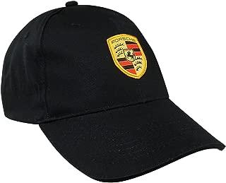 Porsche Black Crest Logo Cap Official Licensed