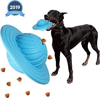 VIIVIO IQ Interactive Treat Food Dispensing Puzzle Toys Balls,UFO Dog Treat Ball,IQ Treat Balls Dog Toy Balls for Medium Large Dogs Chasing Chewing Playing