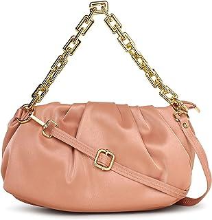 SaleBox Women's Cloud Bag with chain Trendy Fashion Shoulder Bag Chain Handle Crossbody Bag for Girls(CLD FL CHAIN)