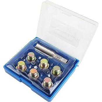 M17 x 1.5MM 8MILELAKE Oil Drain Plug Tap Thread Repair Kit Oil Pan Screws Rethread Tool Set