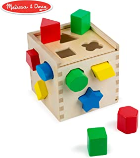 Melissa & Doug Shape Sorting Cube Classic Wooden Toy,...