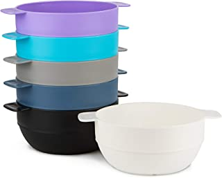 Amuse- Unbreakable & Stackable Bowls < Dessert, Cereal or Ice Cream > - 6 pcs- 16.9 oz (Assorted Colors II)