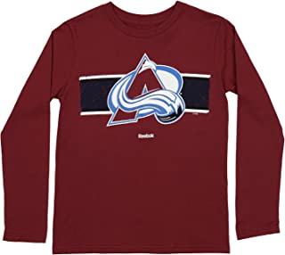 OuterStuff NHL Youth Boys Colorado Avalanche Honor Code Long Sleeve Tee, Burgundy Large (14-16)