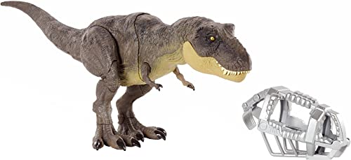 discount Jurassic high quality World sale Stomp 'N Escape Tyrannosaurus Rex Figure Camp Cretaceous Dinosaur Escape Toy with Stomping Movements, Movable Joints, Authentic Deco, Kids Gift Ages 4 Years & Up online