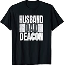 Mens Husband Dad Deacon For Catholic Fathers Religious Men Funny T-Shirt
