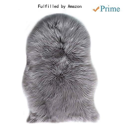 60 90 Cm Soft Fluffy Rugs Anti Skid Shaggy Area Rug Dining: Faux Sheepskin Rugs: Amazon.co.uk