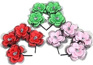 Haunted House PMS 4 Rosas y 4 Calaveras Diadema 3ASSTD Colores con Etiqueta para Colgar