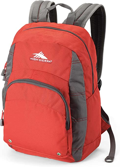 High Sierra 53627 Hiking Backpack, Lava/Charcoal, 23 L Capacity