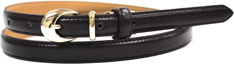 Bell la bell Women's Leather Thin Belt Adjustable Size Belt