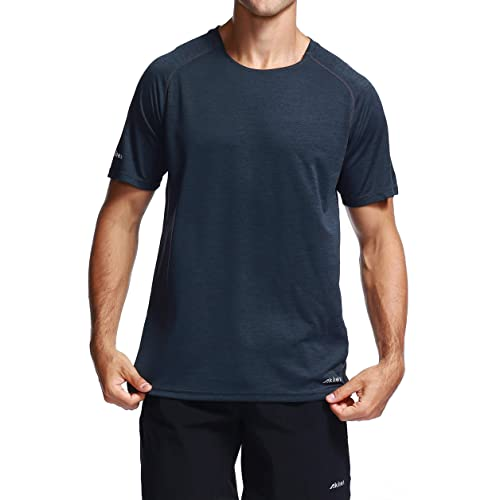 b73c94b5f49d7 Akilex Men's Running Dry Fit T-Shirt Outdoor Athletic Short Sleeve Fashion  Casual Top