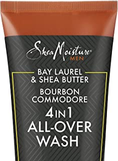 SheaMoisture 4-In-1 All-Over Wash Bay Laurel - Bourbon Commodore, 10.3 Fluid Ounce