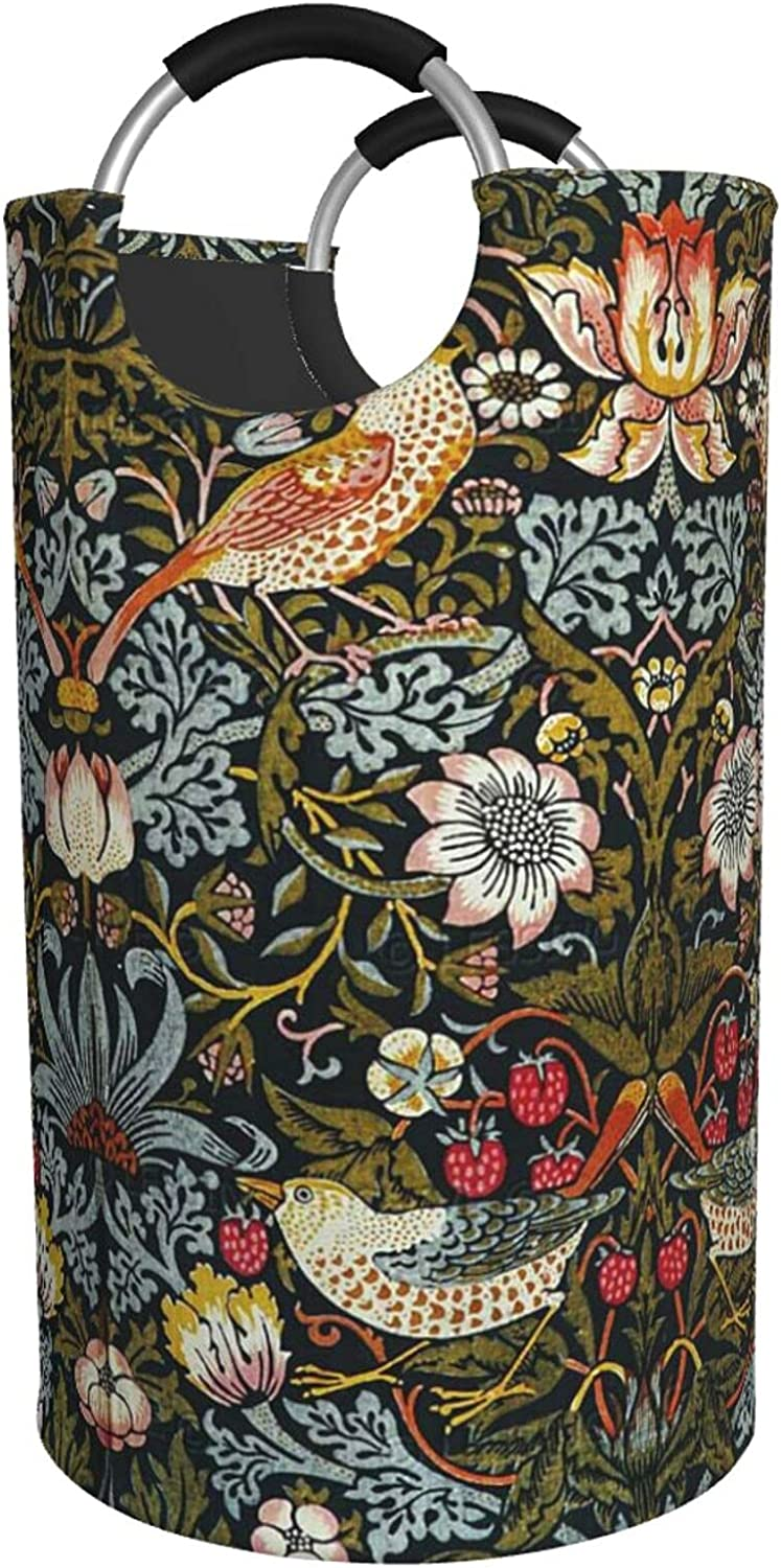 Cheap mail order specialty store Strawberry Thieves By William Morris Laundry Fixed price for sale Water Hamper Print
