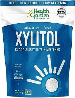 Health Garden Birch Xylitol Sweetener - Non GMO - Kosher - Made in the U.S.A. - Keto Friendly 5LB -