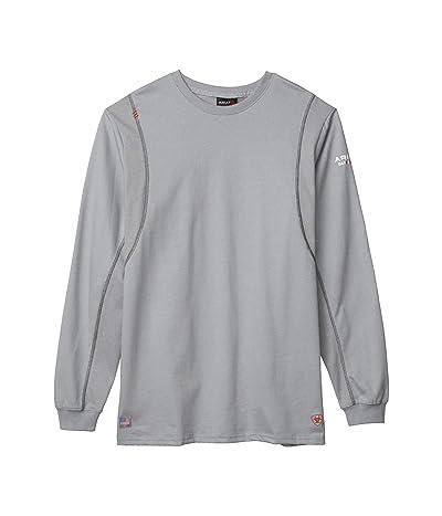 Ariat FR AC Crew T-Shirt (Silver Fox) Men