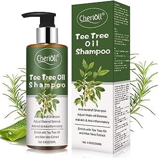 Champú de árbol de té Champú AntiCaspa de Aceite de Arbol de Te limpieza profunda de caspa El cuero cabelludo seco y el...