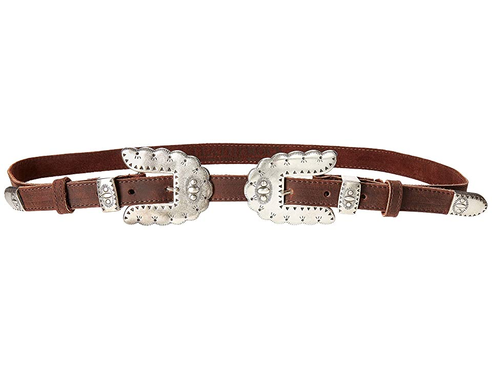 Leatherock Isabel Double Belt (Tobacco) Women