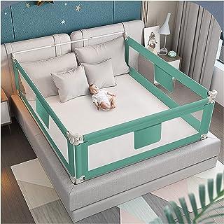 QIANDA-sängskenor sängar skyddsräcke 3 sidor (2 långa sidor och 1 fotsida) för baby justerbar höjd för barn tvillingar, du...