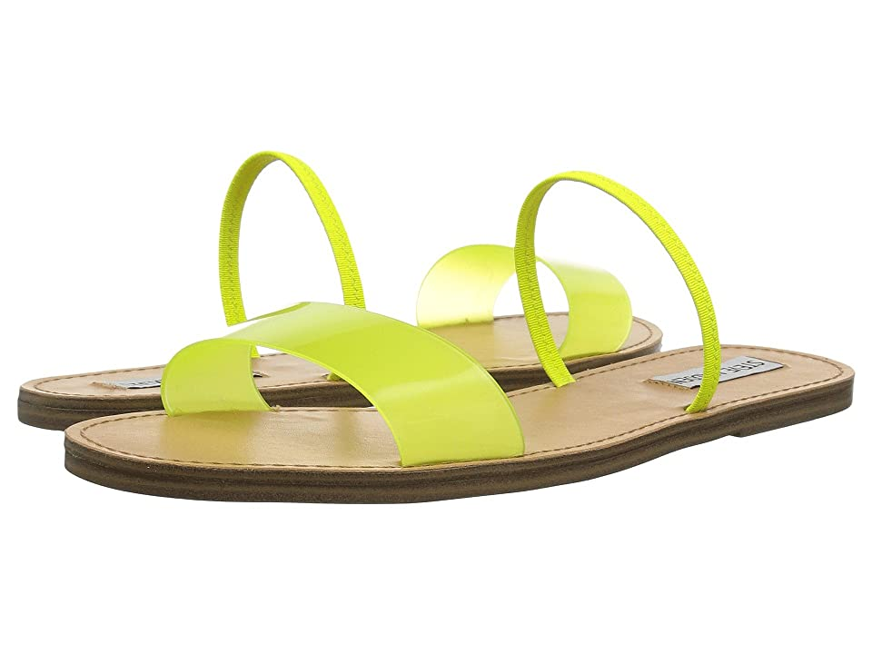 Steve Madden Dasha Flat Sandal (Yellow) Women