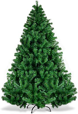 2ab98294a20b Goplus Christmas Tree Unlit Artificial Premium Hinged Spruce Full Tree with Solid  Metal Stand