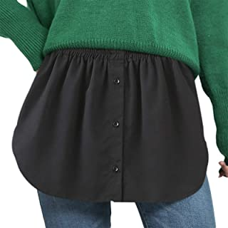 Women's Tops Fake Hemline Adjustable Layering Faux Tops Lower Sweep Blouse Shirt Extender Mini Skirt Hem