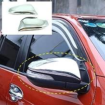 SAISDON- For 2015-2019 Toyota Vigo Hilux D4D Pickup Chrome Door Mirror Cover Trim Toyota Hilux Revo Rear View Abs Plastic [1 Set of 2 Pieces (L&R)][IQ1]