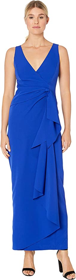 V-Neck Gown with Side Drape
