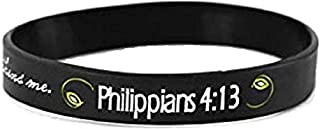 I Can Do All Things Through Christ One Size Fits Most Silicone Bracelets, Pack of 24