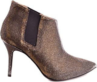 L'ARIANNA Women's MCBI29848 Gold Leather Ankle Boots