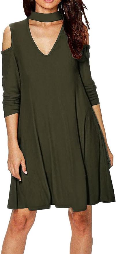 Blusas Mujeres, Morbuy Vintage Tamaño Más Mini Vestido A ...