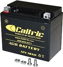 CALTRIC AGM BATTERY compatible with HONDA TRX250TM TRX 250TM Recon 250 2X4 2002 2003 2004 2005-2016