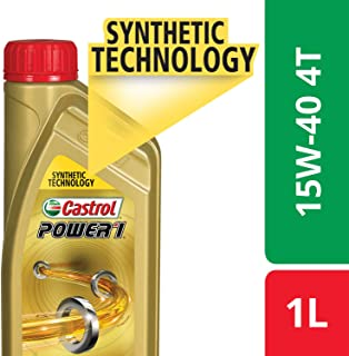 Castrol POWER1 4T 15W-40 API SN Synthetic Engine Oil for Bikes (1L) (3383314)