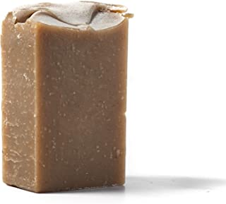 Goat Milk, Bentonite Clay, Peppermint & Hemp Oil Facial Soap - 2.5 oz Bar - All-Natural, Lifts Toxins, Antimicrobial, Highly Moisturizing