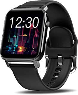 """KOSPET Smart Watch for Men, 1.4"""" Fitness Tracker with 31 Sports Modes, Smartwatch with Heart Rate, Sleep Monitor and Step Tracker, 60 Days Standby Activity Tracker, Compatible with iOS Android, Black"""