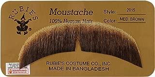 Rubie's Basic Character Mustache Human Hair Black