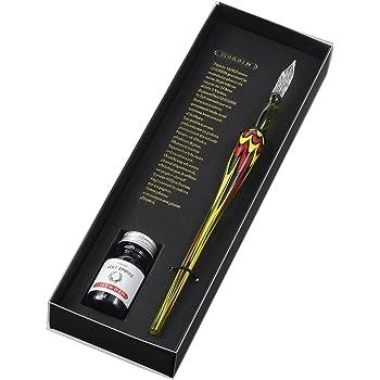 エルバン ガラスペン マーブル&ミニインク セット グリーン hb21330set
