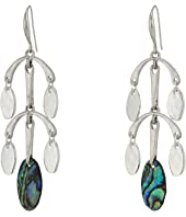 Robert Lee Morris - Silver and Abalone Chandelier Earrings