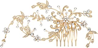 Topwholesalejewel Wedding Jewelry Gold Plating Hair Comb