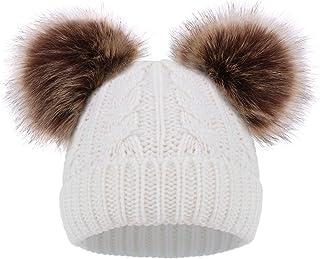 سادگی کودکان و نوجوانان دختر بچه ها زمستان پمپوم کلاه اسکی کلاه کلاه اسکی