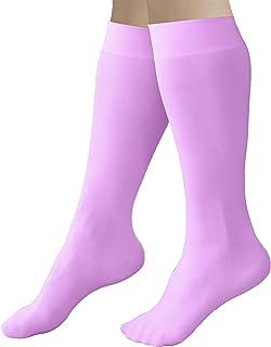 جوراب CRS اسکیت کراس شکل (2 جفت) جوراب شلواری زانو مخصوص اسکیت روی یخ ، جوراب اسکیت پایه ، جوراب شلواری رقص