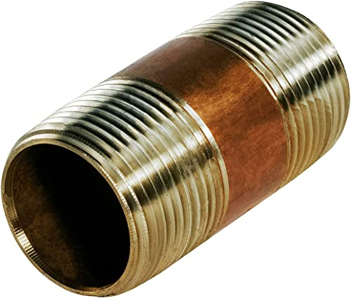 """2021 Everflow Supplies NPBR1030 3"""" 2021 Long Brass Nipple Pipe Fitting with 1"""" Nominal Diameter and lowest NPT Ends outlet online sale"""