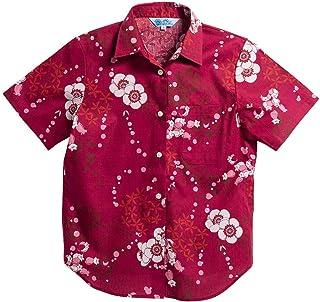[MAJUN (マジュン)] 国産シャツ かりゆしウェア アロハシャツ 結婚式 レディース シャツ ラウンド裾 モリュシオル